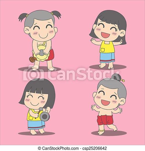 タイ人, 子供 - csp25206642