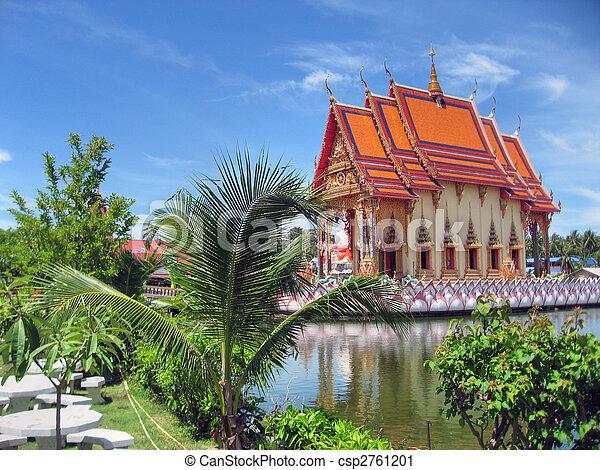 タイ人, 寺院, 2007 - csp2761201