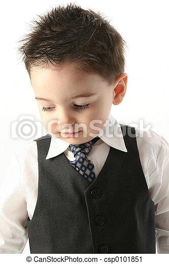 タイ, 子供, スーツ, 男の子 - csp0101851