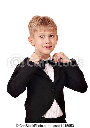 タイ, 男の子, スーツ, 弓 - csp11415953