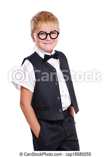 タイ, 男の子, 弓, 確信した, スーツ - csp18580255