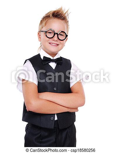 タイ, 男の子, 弓, 確信した, スーツ - csp18580256