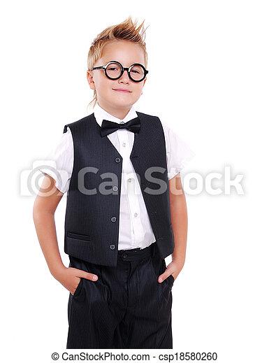 タイ, 男の子, 弓, 確信した, スーツ - csp18580260