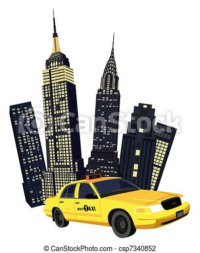 タクシー, ニューヨーク市 - csp7340852