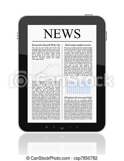 タブレット, ニュース, pc - csp7850782