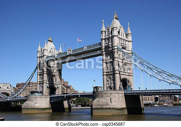 タワー, イギリス, 橋 - csp0345687