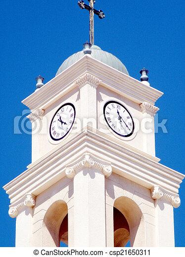 タワー, ピーター, st., 時計, 教会, jaffa, 2011 - csp21650311