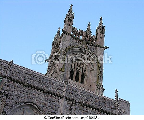 タワー, 教会 - csp0164684