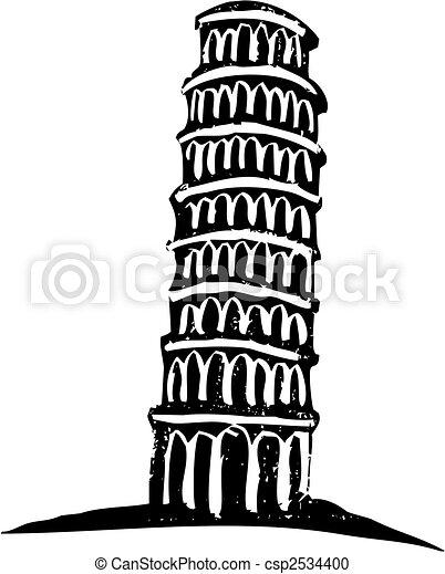 タワー, pisa, 傾倒 - csp2534400