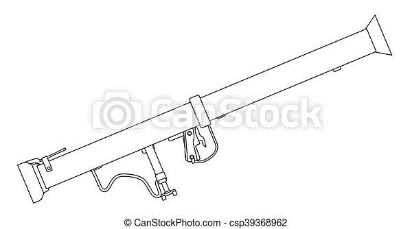 タンク, 反, bazooka, 武器 - csp39368962