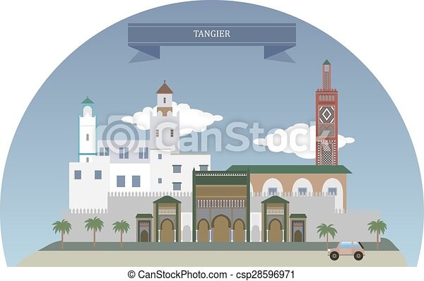 タンジール, モロッコ - csp28596971