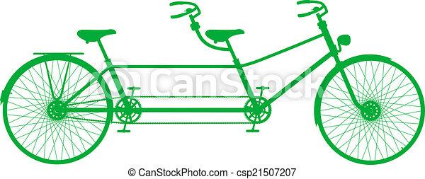 タンデム自転車, レトロ - csp21507207