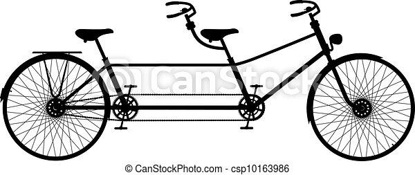 タンデム自転車, レトロ - csp10163986