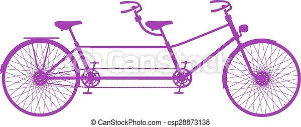 タンデム自転車, レトロ - csp28873138