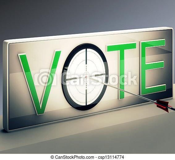 ターゲット, オプション, 投票, 選択, ∥あるいは∥, ショー - csp13114774