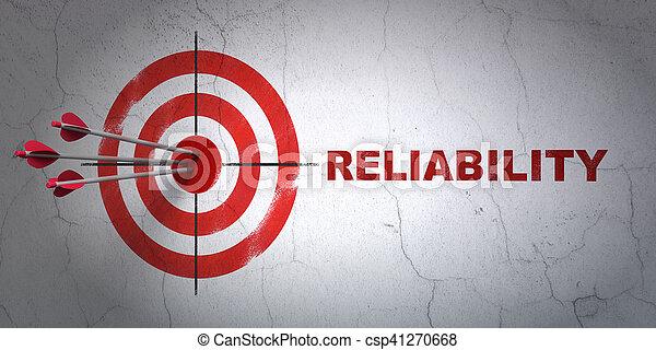 ターゲット, ビジネス, 壁, 信頼性, 背景, concept: - csp41270668