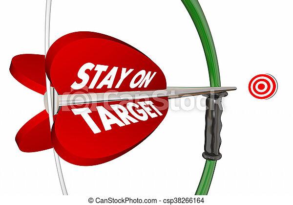 ターゲット, 成功, フォーカス, イラスト, 滞在, 目標, 矢, 弓, 3d - csp38266164