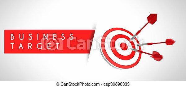 ターゲット, 概念, ビジネス, 成功 - csp30896333