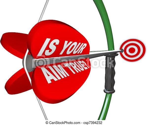 ターゲット, 質問, 弓, 目標, true?, 矢, あなたの - csp7394232