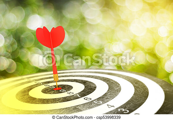 ターゲット, 赤い矢印, さっと動きなさい - csp53998339