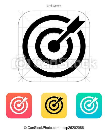 ターゲット, shoot., 成功した, 目標, さっと動く, icon. - csp26202086