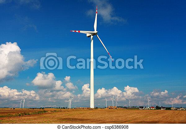 タービン, 代替エネルギー, 風 - csp6386908