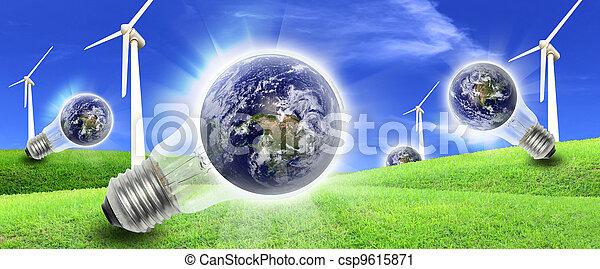 タービン, 風, 生産, 農場, 世界, エネルギー - csp9615871