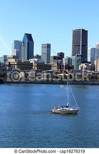 ダウンタウンに, 船遊び, ケベック, カナダ, モントリオール - csp16276319