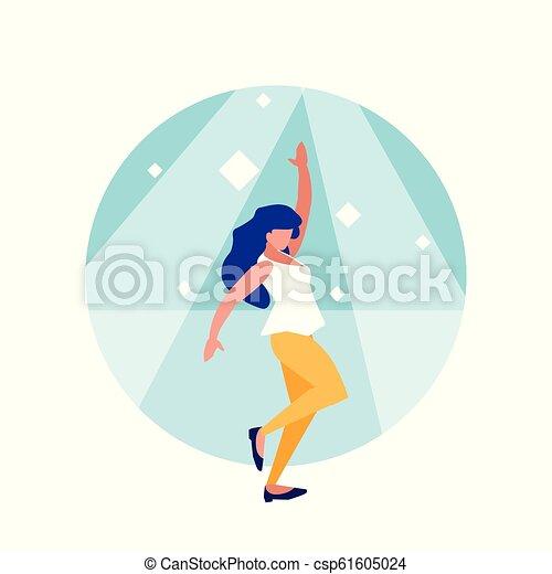 ダンサー, 女, 特徴, avatar, ディスコ - csp61605024