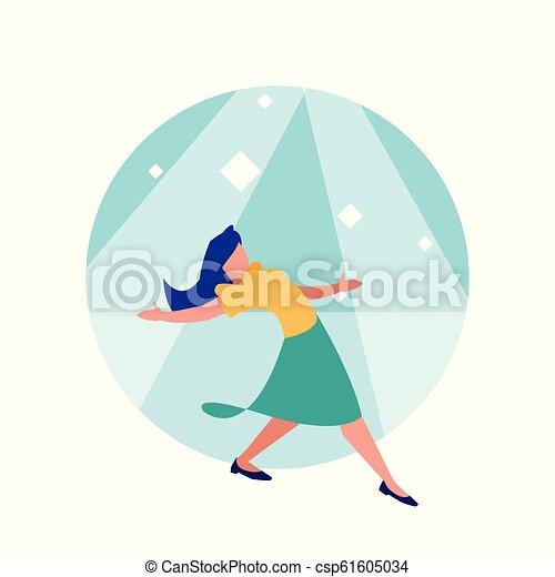 ダンサー, 女, 特徴, avatar, ディスコ - csp61605034