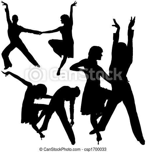 ダンス, シルエット, latino - csp1700033