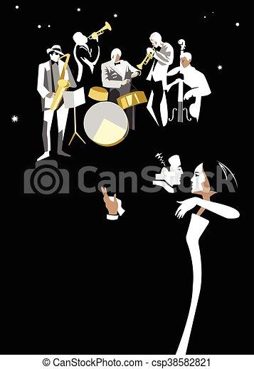 ダンス, 夜 - csp38582821
