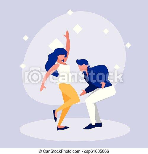 ダンス, 恋人, 特徴, avatar, ディスコ - csp61605066