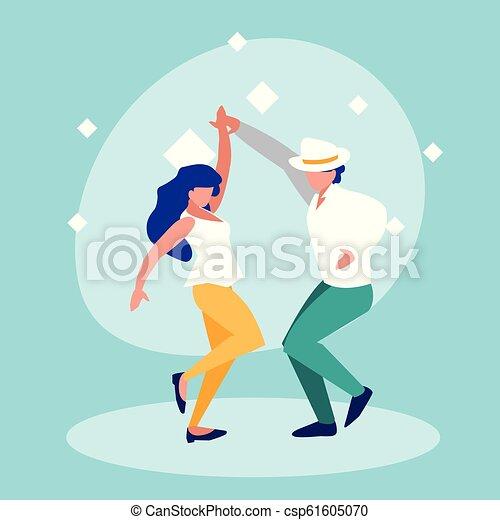 ダンス, 恋人, 特徴, avatar, ディスコ - csp61605070