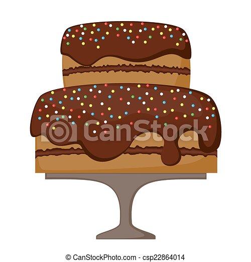 チョコレートケーキ - csp22864014