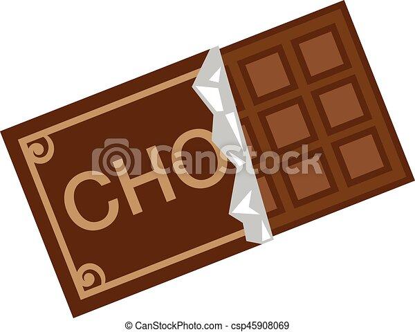 チョコレート イラスト オリジナル 絵画 ベクトル Drawing Illustration Canstock