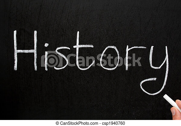 チョーク, 歴史, 書かれた, blackboard., 白 - csp1940760