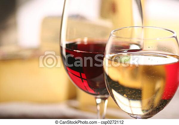 チーズ, ワイン - csp0272112