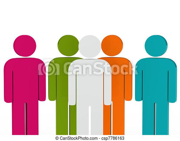 チームのリーダー, カラフルである, 人々 - csp7786163