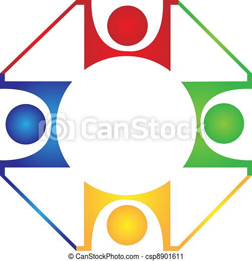 チームワーク, デザイン, 調和, ロゴ - csp8901611