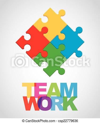チームワーク, デザイン - csp22779636