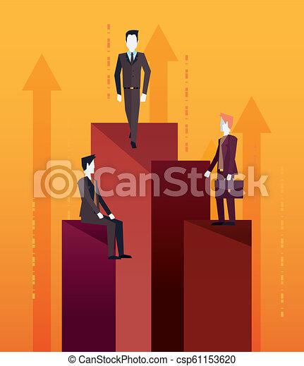 チームワーク, ビジネスマン, 成功 - csp61153620