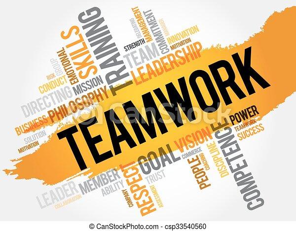チームワーク, 単語, 雲 - csp33540560