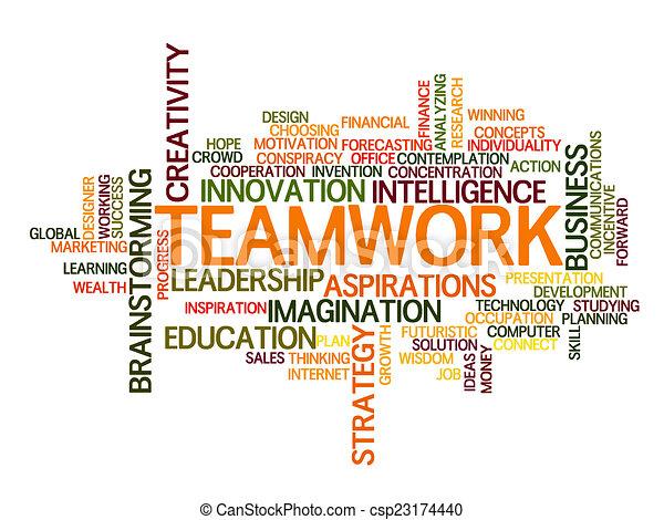 チームワーク, 単語, 雲 - csp23174440