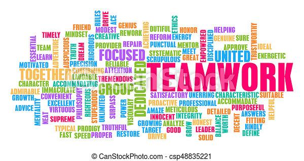 チームワーク, 概念, 単語, 雲 - csp48835221