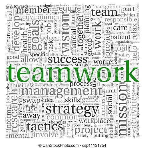 チームワーク, 概念, 単語, 雲, タグ - csp11131754
