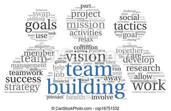 チームワーク, 概念, 単語, 雲, タグ - csp16751532