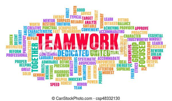 チームワーク, 概念, 単語, 雲 - csp48332130