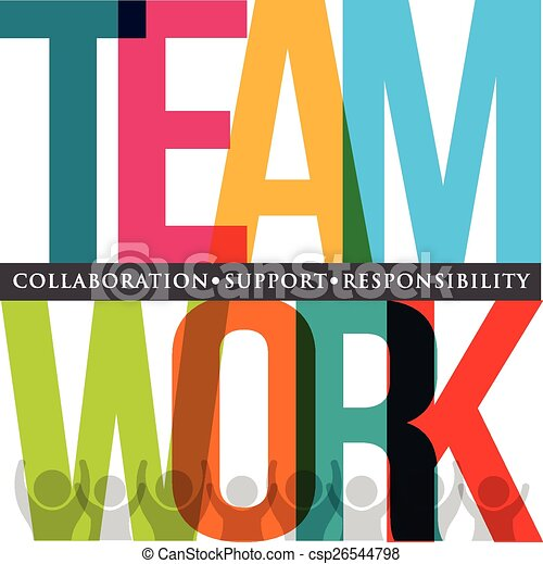 チームワーク, 活版印刷 - csp26544798