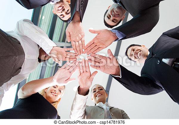 チーム, ビジネス, 一緒に, 手 - csp14781976